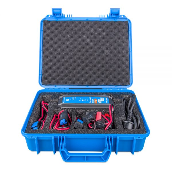 Inside of Victron IP65 Charger case with accessories