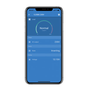 Victron Connect app display on iphone