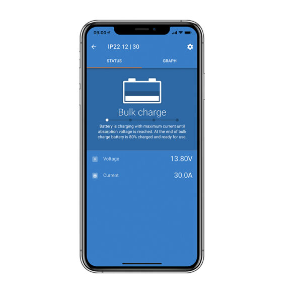 Victron Connect App for IP22 charger