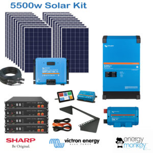 5500w Solar Kit with 5KVA Inverter Charger and 9.6kWh LiFePo4 battery